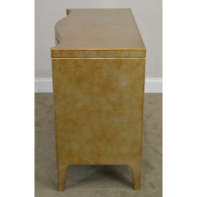 High Quality 2 Drawer Leather Board Chest by Henredon