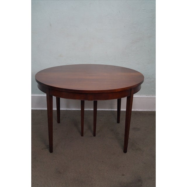 Vintage Solid Mahogany Extension Dining Table - Image 2 of 10
