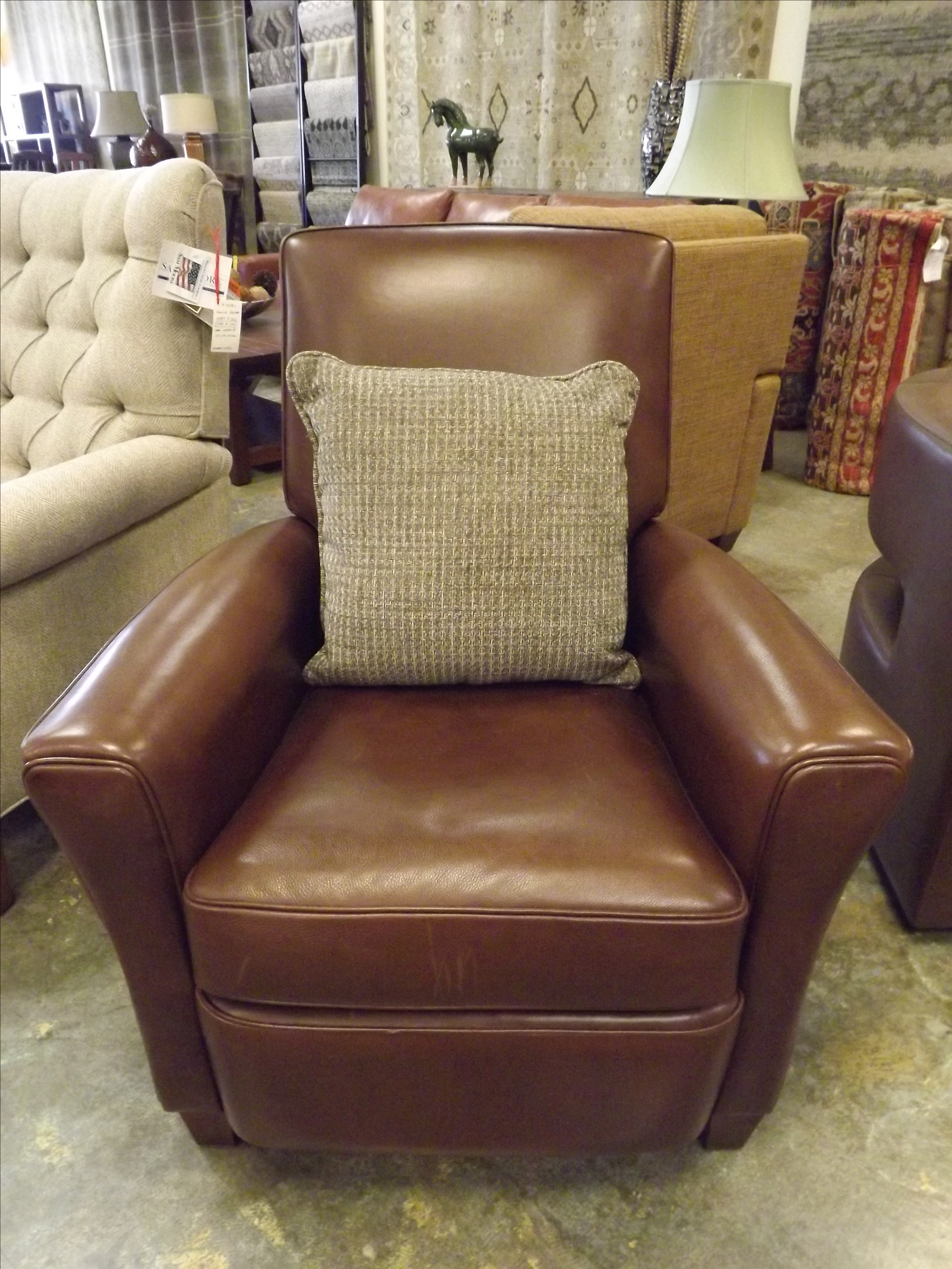 Contemporary American Leather Lincoln Recliner Chair For Sale   Image 3 Of 8