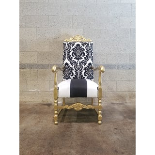 1960s Antique Victorian Black and White Chair Preview