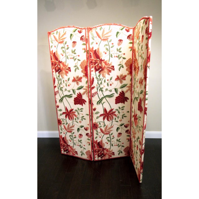 Floral Scalamandre Room Divider For Sale - Image 4 of 7