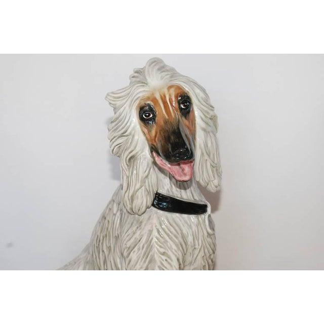 1970s Vintage Italian Ceramic Dog Sculpture For Sale - Image 5 of 10