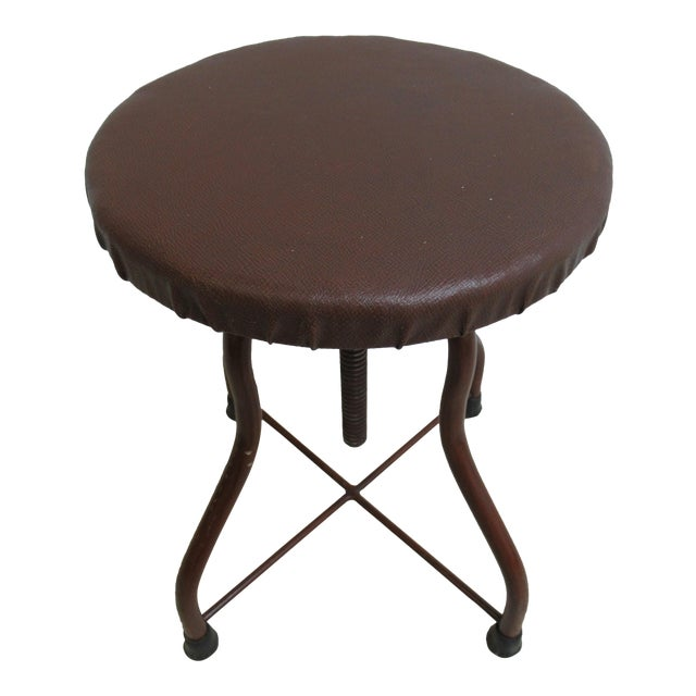 1950s Mid-Century Modern Industrial Doctor's Stool For Sale