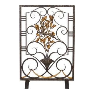 Edgar Brandt Firescreen For Sale