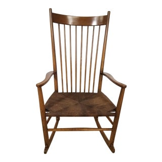 Danish Modern Hans Wegner J-16 Rocking Chair For Sale