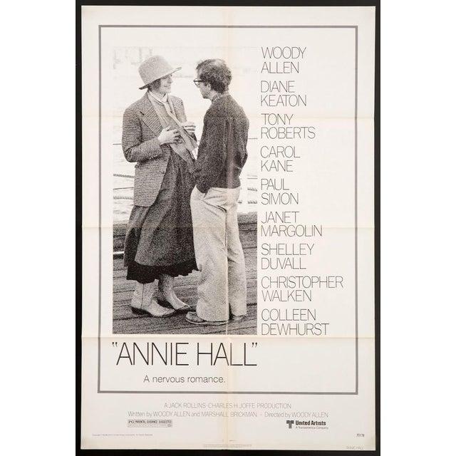 Original 1977 U.S. 1 Sheet film poster for Woody Allen's Oscar-winning classic 'Annie Hall', starring Allen & Diane Keaton...