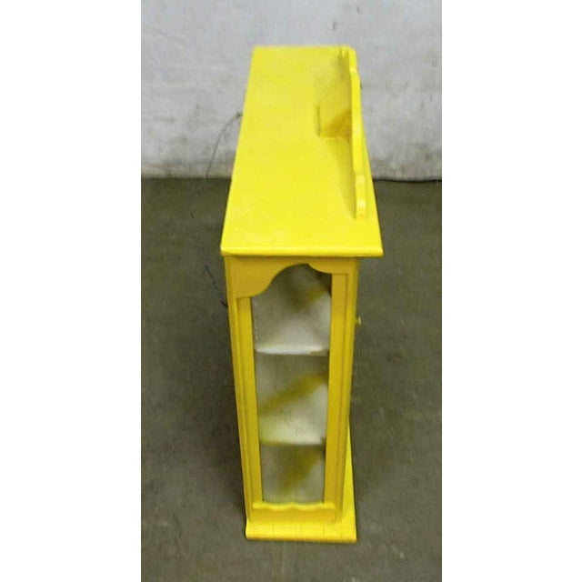 Wood Yellow Painted Curio Cabinet For Sale - Image 7 of 8