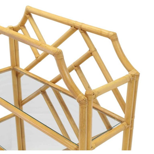 Large Rattan Shelf For Sale - Image 4 of 8