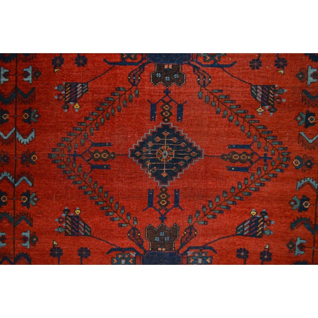 "Antique Persian Afshar Rug - 4'6"" x 5'5"" - Image 6 of 8"