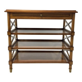Transitional Pearson Co. Oak Finised Four Tier Side Table For Sale