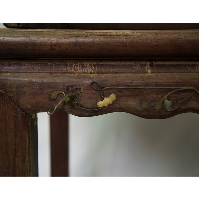 Antique Chinese Marble & Carved Rosewood Chair - Image 5 of 11 - Antique Chinese Marble & Carved Rosewood Chair Chairish