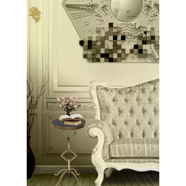 The circle speaks of everlasting life. And the Accent Table is a timeless piece for any room. Crafted with Gold Leafing-...