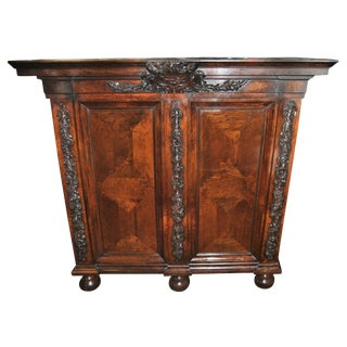18th-19th Century Carved French Country Armoire For Sale