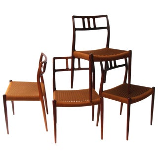 Set of 4 Niels Moller Rosewood Chairs Model 79 For Sale