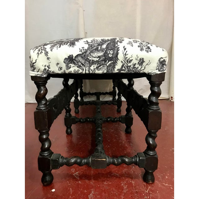 French French Louis XIII Style Bench For Sale - Image 3 of 7