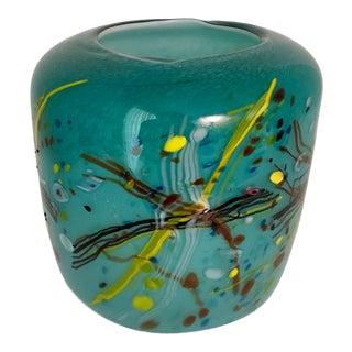 """Scribble"" Pattern Art Glass Vase For Sale"