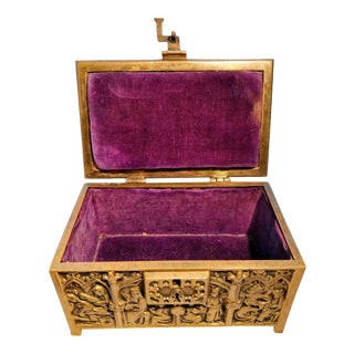 Mid 19th Century Vintage Reliquary Sohne Casket German Trinket Box For Sale