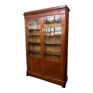 Elegant 19th Century Mahogany Bookcase For Sale
