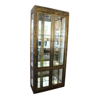 Vintage Bernhard Rohne for Mastercraft Display Cabinet Anodized Aluminum Brass For Sale