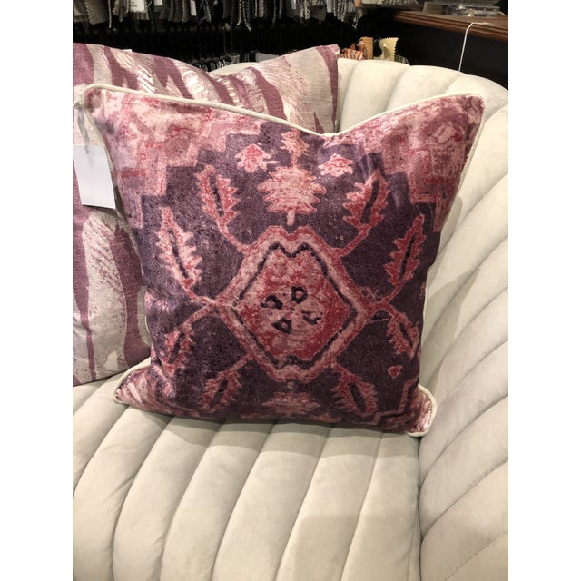 Abstract Hollywood Regency Classic Home Vera Wine Pillow For Sale - Image 3 of 8