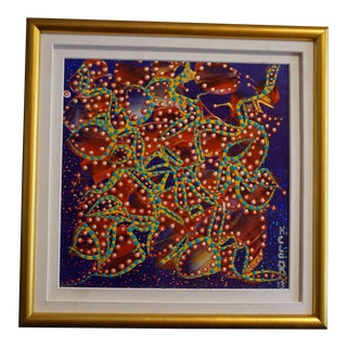Colorful Abstract K. Clark Painting For Sale