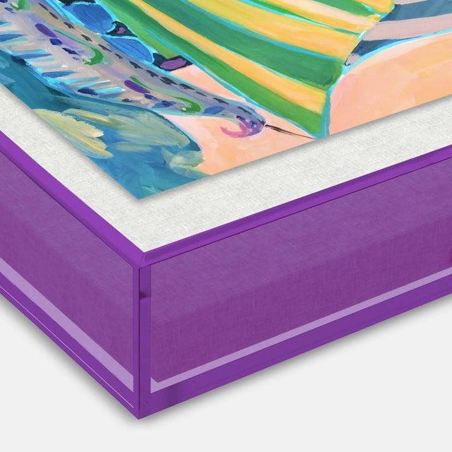 SB Staniel Cay by Lulu DK in Dark Purple Transparent Acrylic Shadowbox, Medium Art Print Overall Size: 36x27.5. Image...