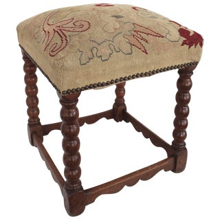 19th Century Turned Wood Stool For Sale
