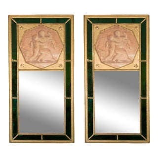 Directoire Style Jansen Trumeau Mirrors - A Pair For Sale