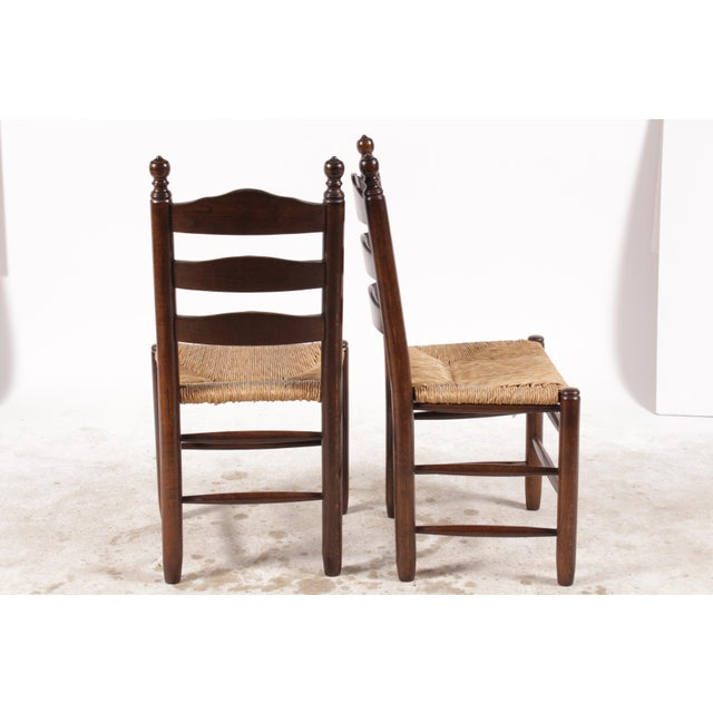 English Country Ladder Back Chairs - Set of 4 - Image 3 of 8
