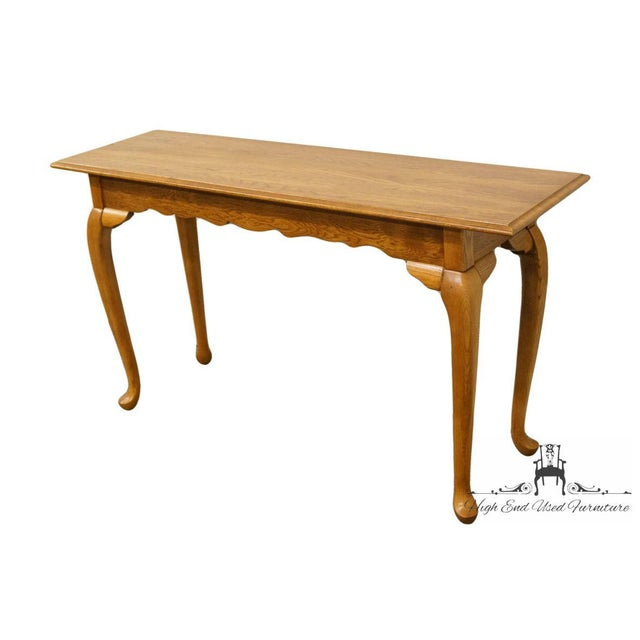 "Kincaid Furniture Solid Oak Country French 52"" Sofa Accent Table 37/025 29"" High 52"" Wide 16"" Deep We specialize in High..."