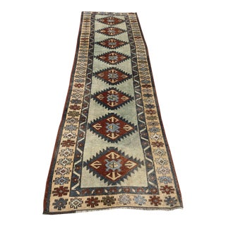"Turkish Aztec Wool Runner-2'9x10'3"" For Sale"