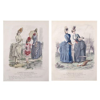 1885 Parisian Victorian Ladies Fashion Plates