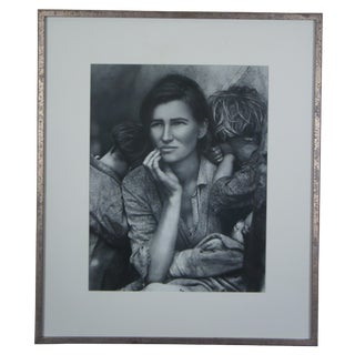 """""""The Other Series: After Lange"""" Female Portrait Silver Photo by Kathy Grove, 1989 For Sale"""