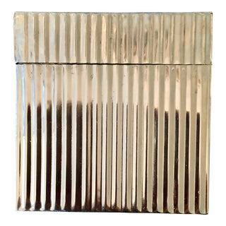 Vintage Polished Steel Lidded Box