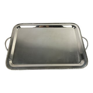 Silver Plate Pottery Barn Serving Tray For Sale
