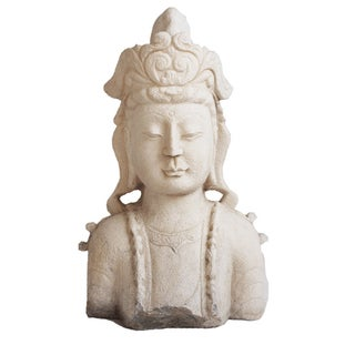 White Marble Quan Yin Bust For Sale