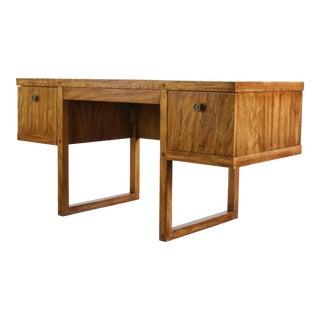 Mid-Century Modern Oak Executive Desk For Sale