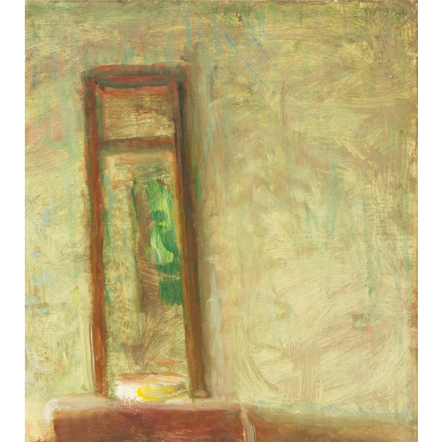 1910s 'Interior With Mirror' by Julius Paulsen, Paris Salon, Royal Danish Academy, Impressionist Oil, Benezit For Sale - Image 5 of 9