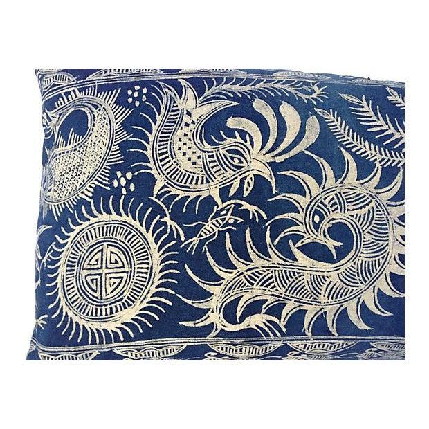 Serpent Indigo Batik Fringe Pillow - Image 5 of 5