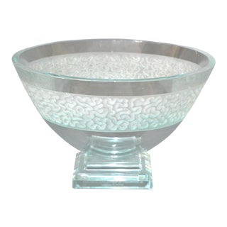 Schlamer Art Glass Award Footed Center Bowl For Sale