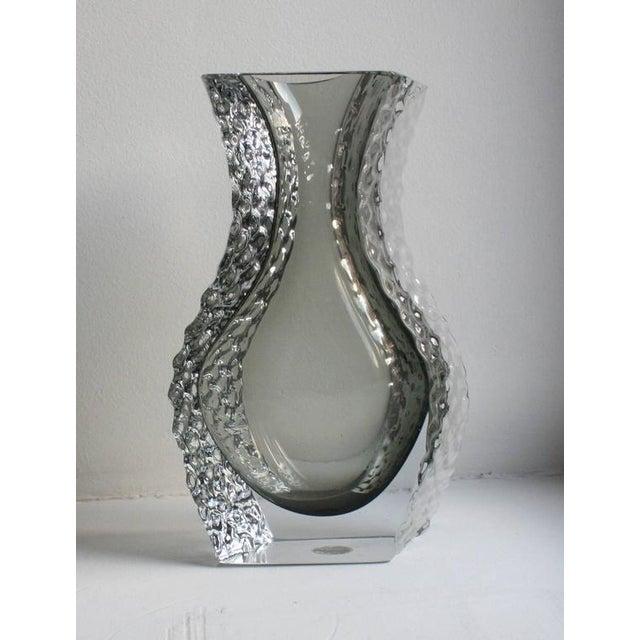 Art Glass Mandruzzato Murano Art Glass Vase by Cavagnis For Sale - Image 7 of 8