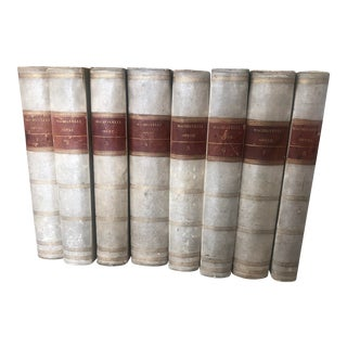 Early 19th Century Eight Volumes of Italian Work, Opere DI Machiavelli - Set of 8 For Sale