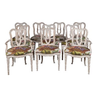 Carved Wood Dining Chairs, Serge Roche Style - Set of 10 For Sale