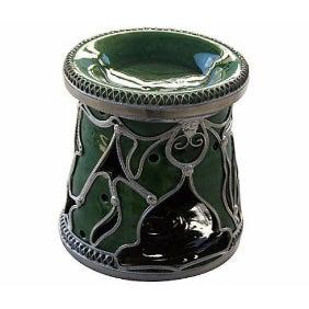 Green Moroccan Ceramic Candleholder/Ashtray