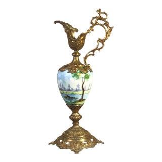 Late 19th Century Victorian Paris Porcelain Type Ewer For Sale