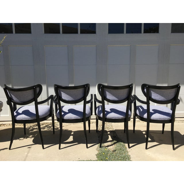 Mid-Century Crescent Back Dining Chairs - Set of 4 - Image 3 of 10