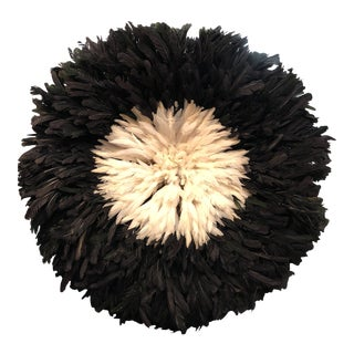 Black and White Cameroon Juju Hat Headdress For Sale