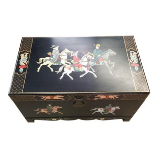 Decorative Oriental Trunk For Sale