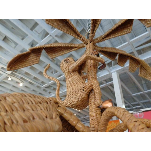Mario Lopez Torres Palm Tree Monkey Chandelier - Image 3 of 6