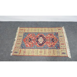 Hand Made Geometric Medallion Rug 3′1″ × 5′6″ Preview